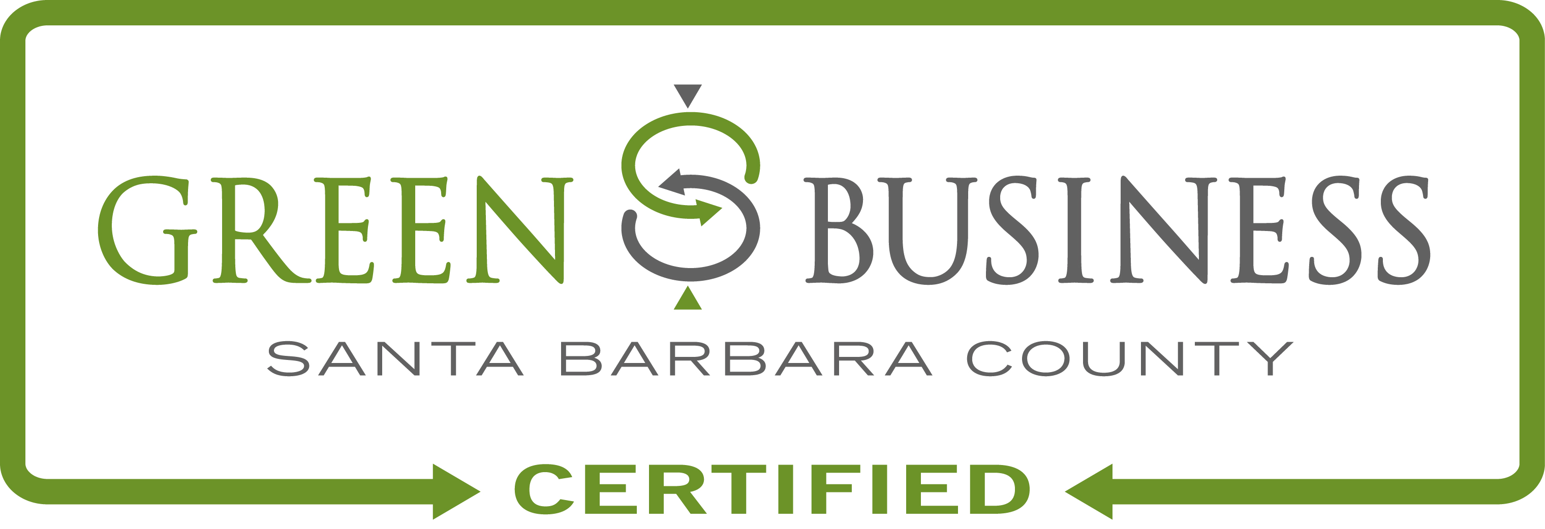 Santa Barbara County Green Business Certified Logo