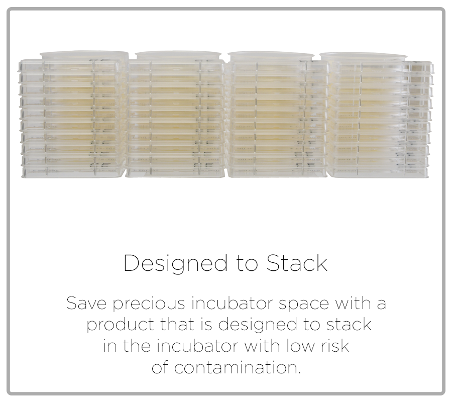 Designed to Stack, stackable diffusion compactdry plates