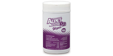 Alpet D2, Surface Sanitizer Wipes, 160 wipes per canister, 6 canisters per case, by Best Sanitizers